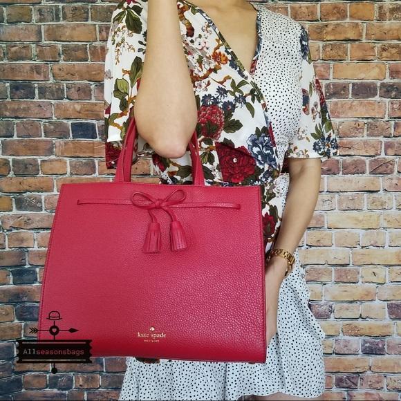 78abd2dee1de Kate spade hayes Street Isobel LARGE Rosso satchel